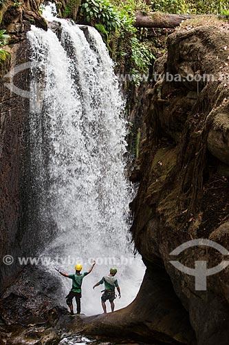 Rapel na Reserva Ecológica Cachoeira do Santuário  - Presidente Figueiredo - Amazonas (AM) - Brasil