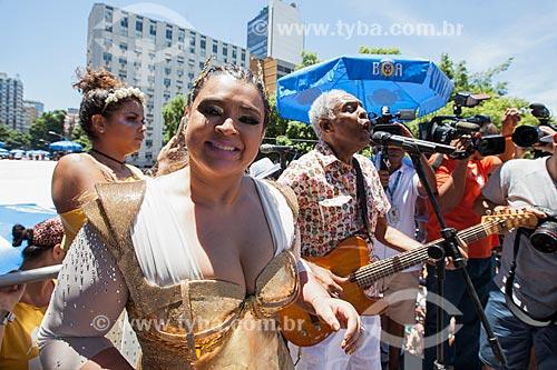 Preta Gil e Gilberto Gil durante o desfile do Bloco da Preta  - Rio de Janeiro - Rio de Janeiro (RJ) - Brasil