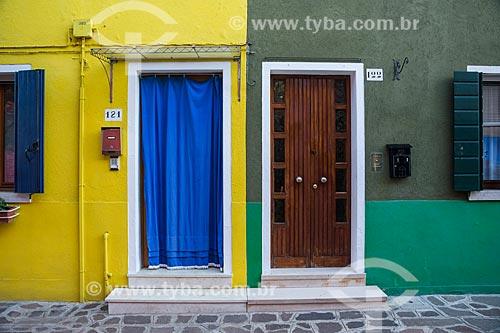 Detalhe de casas na Ilha de Burano  - Veneza - Província de Veneza - Itália