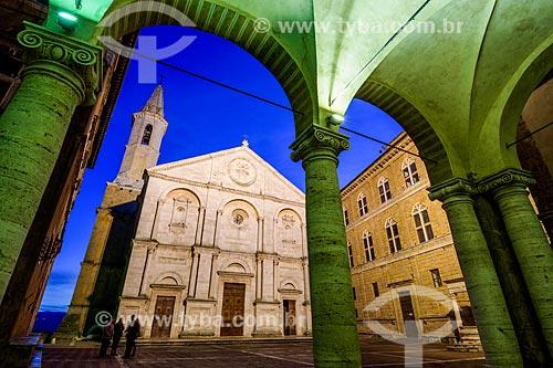 Fachada da Duomo di Pienza (Catedral de Pienza)  - Castiglione dOrcia - Província de Siena - Itália