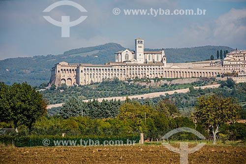 Vista geral da Basilica di San Francesco (Basílica de São Francisco de Assis) - 1230  - Assis - Província de Perugia - Itália