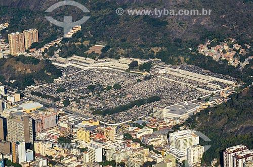 Vista do Cemitério São João Batista a partir do Cristo Redentor  - Rio de Janeiro - Rio de Janeiro (RJ) - Brasil