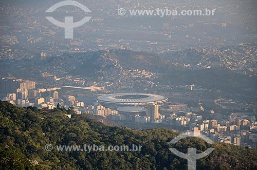 Vista do Estádio Jornalista Mário Filho (1950) - também conhecido como Maracanã - a partir do Cristo Redentor  - Rio de Janeiro - Rio de Janeiro (RJ) - Brasil