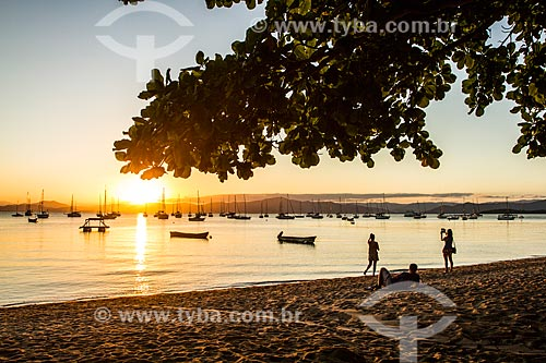 Pôr do Sol na Praia de Santo Antonio de Lisboa  - Florianópolis - Santa Catarina (SC) - Brasil