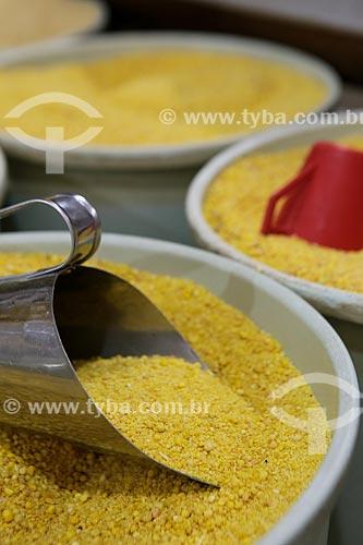 Detalhe de farinha de mandioca amarela  - Rondônia (RO) - Brasil
