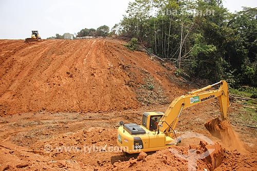 Canteiro de obras do Anel Viário de Porto Velho  - Porto Velho - Rondônia (RO) - Brasil