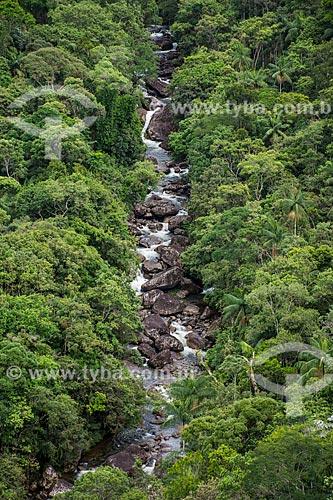 Vista de rio a partir do Mirante do Último Adeus no Parque Nacional de Itatiaia  - Itatiaia - Rio de Janeiro (RJ) - Brasil