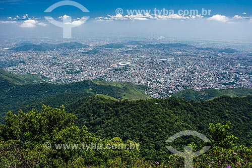 Vista geral da zona norte a partir da trilha para o Pico da Tijuca  - Rio de Janeiro - Rio de Janeiro (RJ) - Brasil