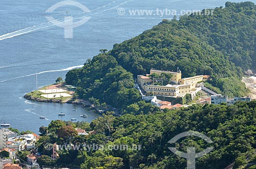 Vista da Fortaleza de São João (1565) - também conhecida como Fortaleza de São João da Barra do Rio de Janeiro - a partir do Morro da Urca  - Rio de Janeiro - Rio de Janeiro (RJ) - Brasil