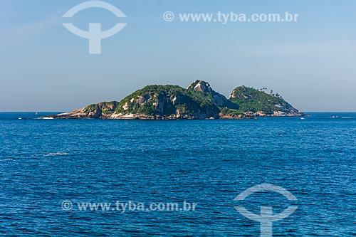Vista da Ilha Pontuda a partir da Praia da Joatinga  - Rio de Janeiro - Rio de Janeiro (RJ) - Brasil