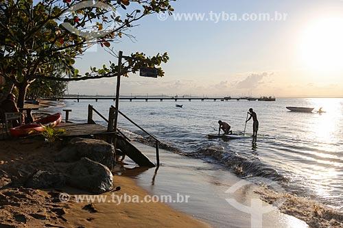 Stand up paddle na orla da Vila de Barra Grande  - Maraú - Bahia (BA) - Brasil