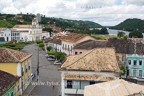 Vista da cidade de Cachoeira com o Convento de Nossa Senhora do Carmo (século XVIII) ao fundo  - Cachoeira - Bahia (BA) - Brasil