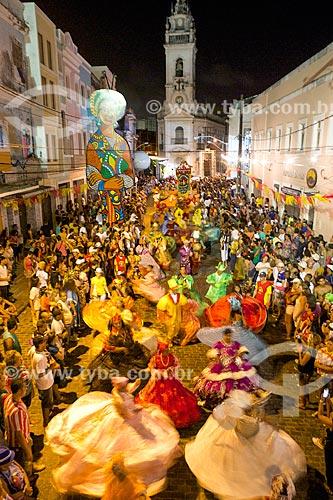 Noite dos tambores silenciosos - cerimônia que agrega o maracatu-nação e as religiões de matrizes africanas realizada durante o carnaval em memória aos ancestrais - no Pátio do Terço  - Recife - Pernambuco (PE) - Brasil