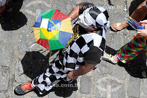 Passista de frevo mascarado no carnaval  - Olinda - Pernambuco (PE) - Brasil