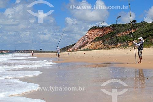 Pesca na orla da Praia de Jacumã  - Conde - Paraíba (PB) - Brasil