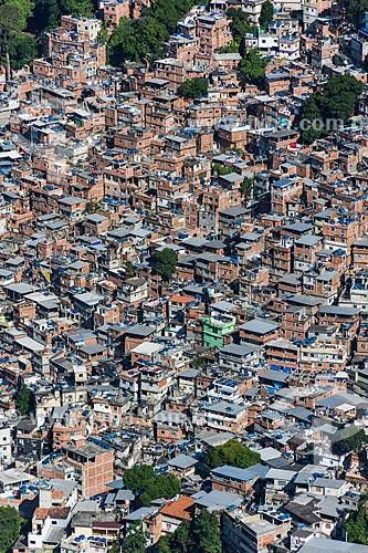 Vista da favela da Rocinha a partir da trilha para o Morro Dois Irmãos  - Rio de Janeiro - Rio de Janeiro (RJ) - Brasil