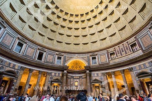 Interior do Panteão - atualmente Chiesa di Santa Maria dei Martiri (Igreja de Santa Maria dos Mártires)  - Roma - Província de Roma - Itália