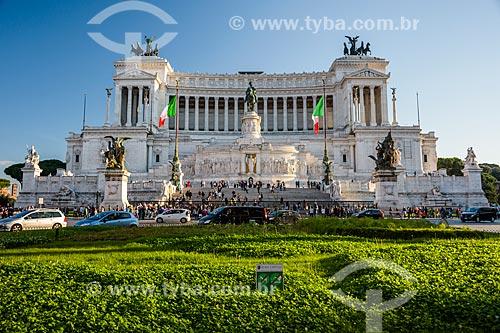 Monumento Nazionale a Vittorio Emanuele II (Monumento Nacional a Vítor Emanuel II) - em homenagem à Vítor Emanuel II da Itália, primeiro rei da Itália unificada  - Roma - Província de Roma - Itália