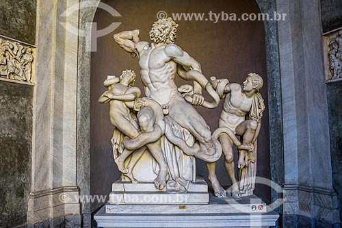 Escultura Laocoonte e seus filhos em exibição no Musei Vaticani (Museus Vaticanos)  - Cidade do Vaticano - Província de Roma - Itália