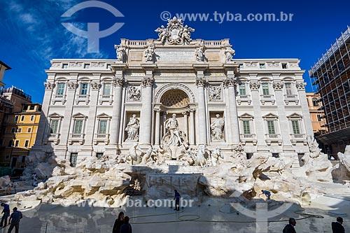 Fontana di Trevi (1762)  - Roma - Província de Roma - Itália