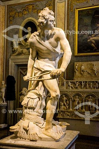 Davi de Gian Lorenzo Bernini em exibição na Galleria Borghese  - Roma - Província de Roma - Itália