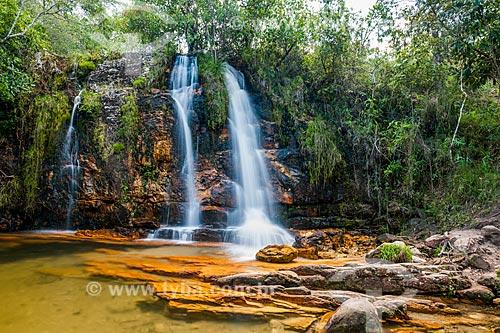 Cachoeira dos Cristais no Parque Nacional da Chapada dos Veadeiros  - Alto Paraíso de Goiás - Goiás (GO) - Brasil