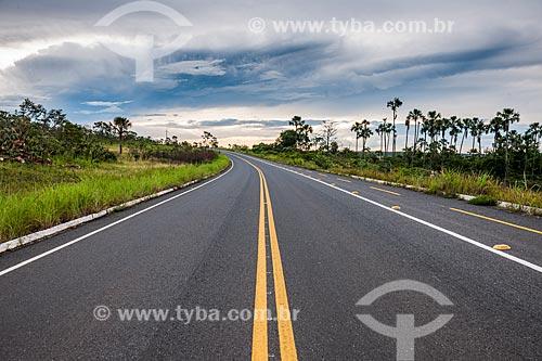 Rodovia GO-239 no Parque Nacional da Chapada dos Veadeiros  - Alto Paraíso de Goiás - Goiás (GO) - Brasil