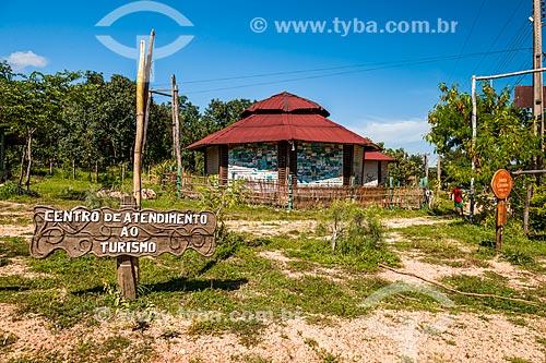 Quiosque para informações turísticas no distrito de São Jorge  - Alto Paraíso de Goiás - Goiás (GO) - Brasil