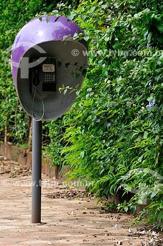 Telefone público na cidade de Barra Bonita  - Barra Bonita - São Paulo (SP) - Brasil