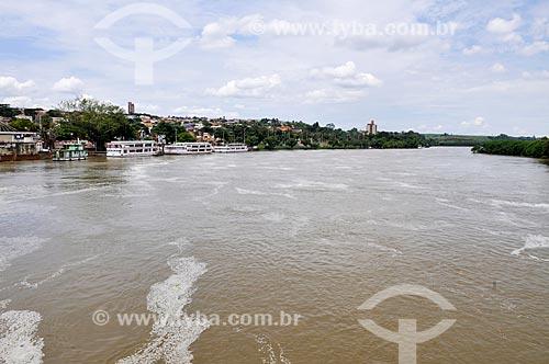 Vista do Rio Tietê com o Porto de Barra Bonita  - Barra Bonita - São Paulo (SP) - Brasil