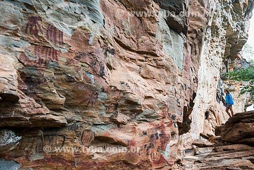 Pinturas ruprestes - Parque Nacional da Serra do Cipó  - Santana do Riacho - Minas Gerais (MG) - Brasil
