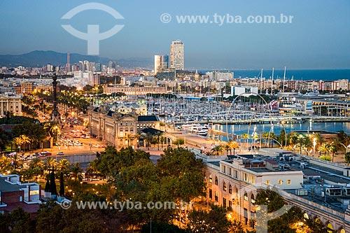 Vista geral da Plaça del Portal de la  - Barcelona - Província de Barcelona - Espanha