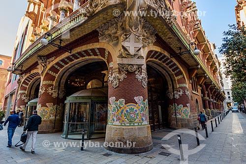 Entrada do Palau de la Música Catalana (Palácio da Música Catalã) - 1908  - Barcelona - Província de Barcelona - Espanha