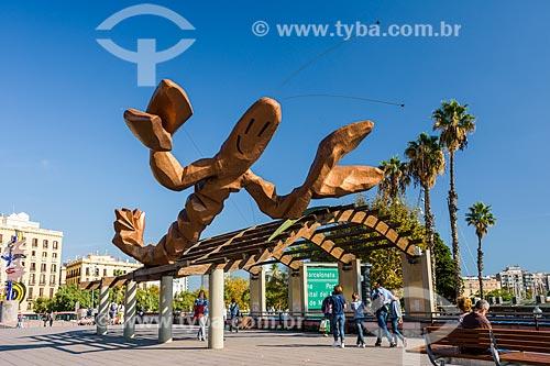 Escultura La Gamba (O Camarão) - 1987  - Barcelona - Província de Barcelona - Espanha