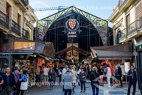 Entrada do Mercat de Sant Josep (Mercado de São José) - 1840 - mais conhecido como La Boqueria  - Barcelona - Província de Barcelona - Espanha