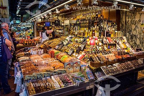 Frutas à venda no Mercat de Sant Josep (Mercado de São José) - 1840 - mais conhecido como La Boqueria  - Barcelona - Província de Barcelona - Espanha