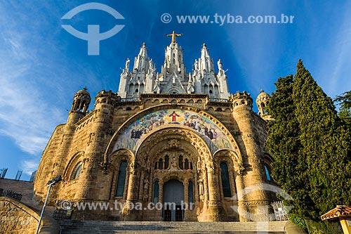 Fachada do Temple Expiatori del Sagrat Cor (Templo Expiatório do Sagrado Coração de Jesus) - 1952  - Barcelona - Província de Barcelona - Espanha