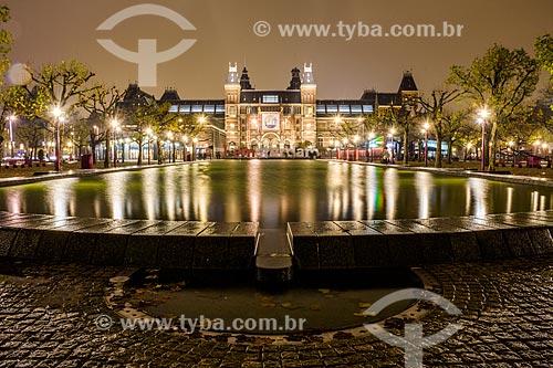 Fachada do Rijksmuseum (Museu Nacional da Holanda) - 1885  - Amsterdam - Holanda do Norte - Holanda