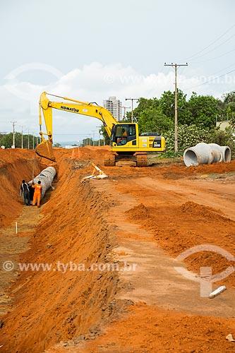 Terraplanagem para instalação de saneamento  - Palmas - Tocantins (TO) - Brasil