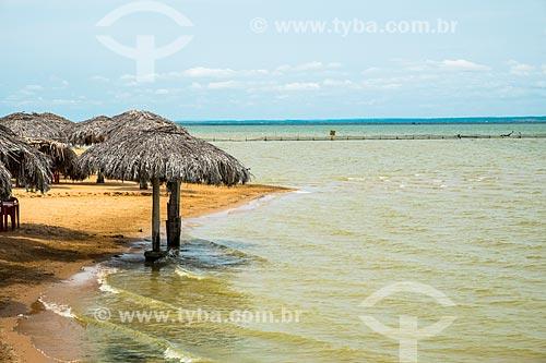 Quiosque na orla da Praia das Arnos no Rio Tocantins  - Palmas - Tocantins (TO) - Brasil