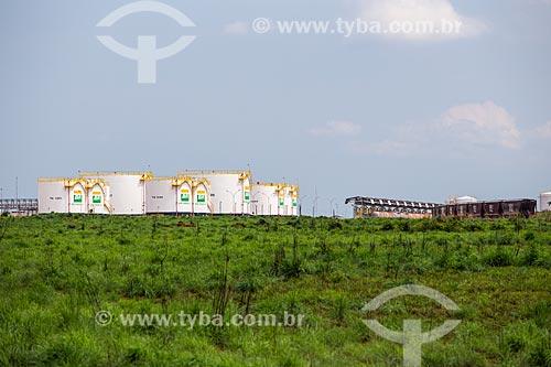 TEPON - terminal de distribuição de combustíveis da Petrobrás - no Pátio Intermodal de Porto Nacional - parte da Ferrovia Norte-Sul  - Porto Nacional - Tocantins (TO) - Brasil