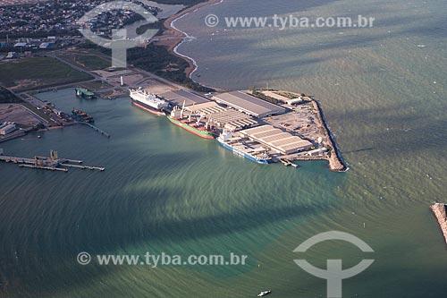 Foto aérea do Terminal Portuário de Barra do Riacho   - Aracruz - Espírito Santo (ES) - Brasil