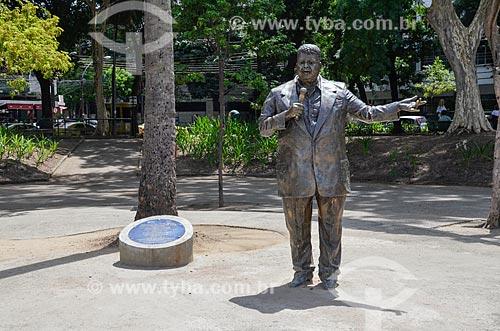 Estátua em homenagem ao cantor Tim Maia (2015) na Praça Afonso Pena  - Rio de Janeiro - Rio de Janeiro (RJ) - Brasil