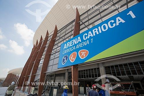 Canteiro de obras da Arena Carioca 1 - parte do Parque Olímpico Rio 2016  - Rio de Janeiro - Rio de Janeiro (RJ) - Brasil