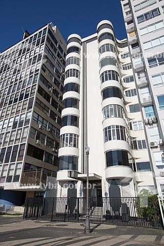 Fachada do Prédio Ypiranga (1930) - Escritório de Oscar Niemeyer  - Rio de Janeiro - Rio de Janeiro (RJ) - Brasil