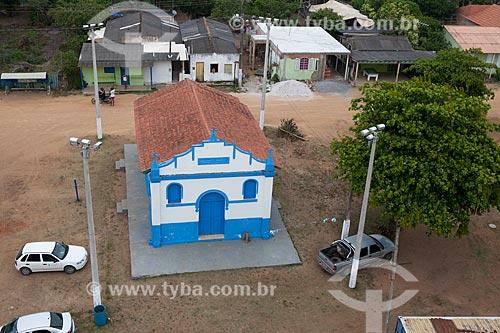 Foto aérea da Igreja do distrito de Regência  - Linhares - Espírito Santo (ES) - Brasil