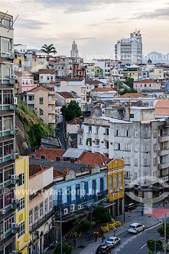 Vista de cima da Rua Sacadura Cabral  - Rio de Janeiro - Rio de Janeiro (RJ) - Brasil