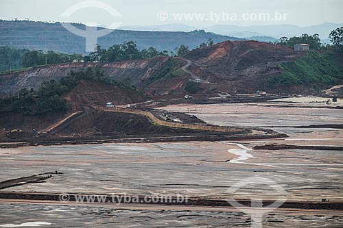 Área de depósito de rejeitos próximo à Mina Germano da Samarco Mineração  - Mariana - Minas Gerais (MG) - Brasil