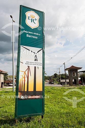Marco sinalizador da antiga Estrada Real Brasileira  - Barroso - Minas Gerais (MG) - Brasil
