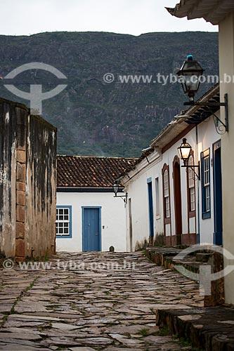 Casarios da Rua Geraldo Resende com a Serra de São José ao fundo  - Tiradentes - Minas Gerais (MG) - Brasil
